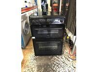 Hotpoint ceramic electric cooker 60 cm black
