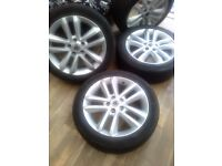 vauxhall vectra sri 17inch alloys with good tyres
