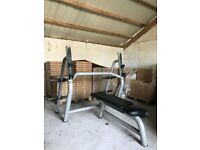 Technogym Flat Olympic Bench Press - Weights Gym