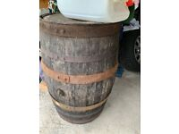 Whisky barrel make good outside table or can be made into planters