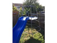 TP climbing frame with wavy slide and extension