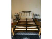Wood/metal Slatted Double Bed Frame