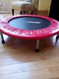 New year, new you! Keep fit the fun way with this rebounder adult fitness trampoline