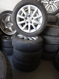"""set of 16"""" transit connect alloys 4 new tyres £190"""