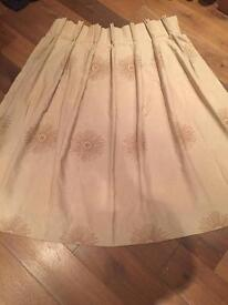 Beige handmade curtains