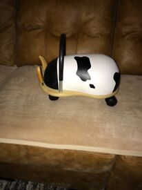 Wheelybug ride on toy, small cow, suitable for 1 to 3 yrs