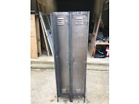 Vinatge Industrial Metal 2 Door Locker