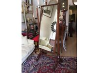 STORAGE CLEARANCE - HANDSOME ANTIQUE 19TH CENTURY MAHOGANY CHEVAL MIRROR