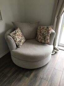 Corner settee and arm chair