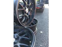 Bmw e36 (5 x 120 ) staggered 17 inch wheels