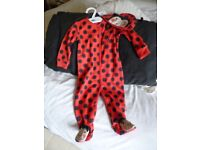 BNWT Ladybird All in one with hat by NEXT 6-9 mth