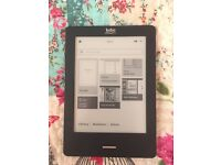 Kobo touch and 130 Ebooks, barely used, black