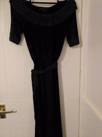 Size 10 Betty Jackson dress, decorated with black pearl