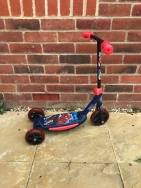 Spider man scooter unused!