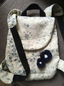Handmade backpack/ bag