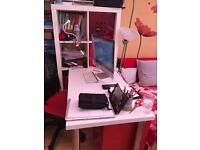 Desk combination white colour with chair