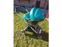 Mamas and papas armadillo flip xt and cybex car seat with adaptors