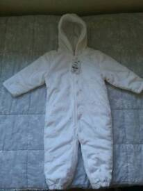New snowsuit for girls age 12-18 months