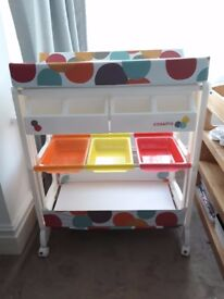 Excellent condition Cossato Easi Peasi baby changing unit table with bath-NEEDS TO GO QUICK!