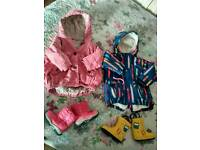 2 girls jacket + shoes 12-18 mth