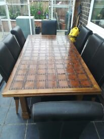 Morrocan mahogany 8 seater table