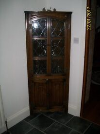 Old corner display cabinet
