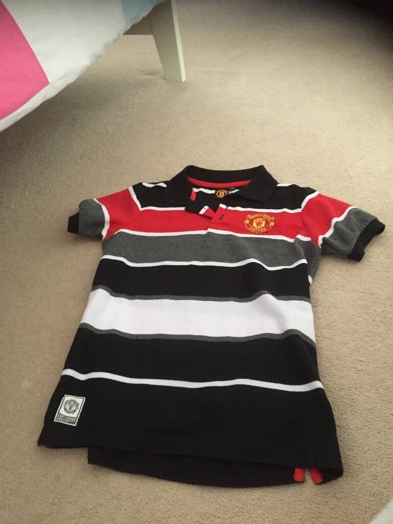 Boys Manchester United Polo Shirt Age 12-13