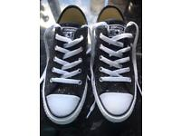 Black Glitter Converse Shoe