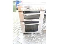 electric double oven with ceramic hob full working order