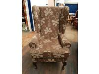 Fabric Wing back arm chair