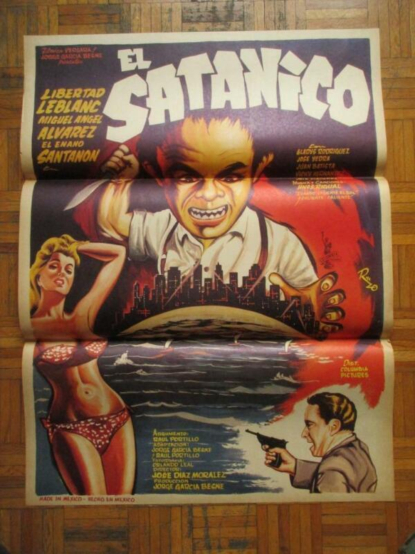 THE SATANIC Horror DWARF Slasher SEXY BIKINI BABE BEAUTIFUL ART MEXICAN POSTER