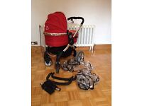 ICandy Peach 2 including Carrycot and Maxi-Cosi 3 in 1 Travel System and Isofix Base*Price Reduced*
