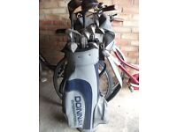 Full Set of Mens Golf Clubs in freestanding Bag with Hood .Also Ladies Set Patty Berg Clubs in Bag.