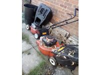 Spares or repair, old lawn mowers.