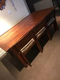 Barker and stonehouse table and 6 chairs