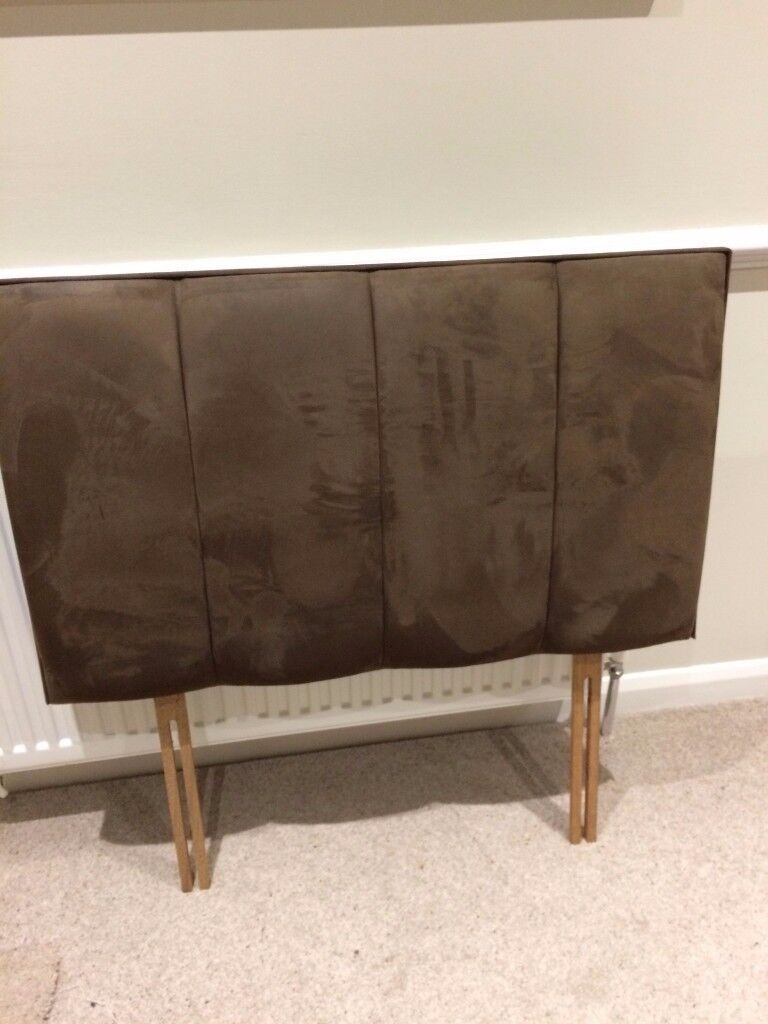Single headboard. Faux chocolate brown suede. No damage or marks