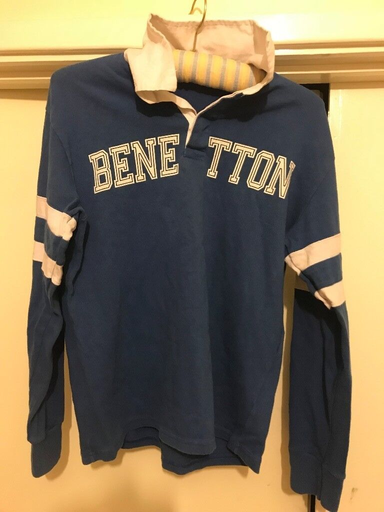 07c3118239f 1980S UNITED COLORS OF BENETTON RUGBY SHIRT RARE 80S CASUALS