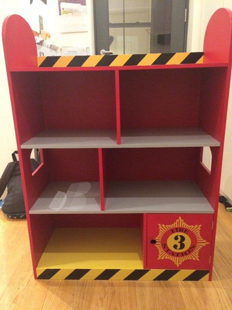 Children's Fire Engine Bookcase for sale