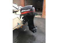 40HP Mercury Outboard, 2 strke with direct oil injection