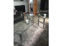 Glass coffee table and nest