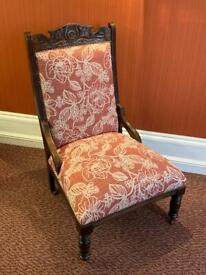 Victorian fireside chair Delivery available