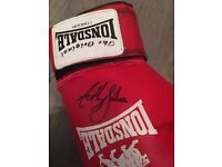 Boxing glove singed