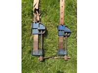 """Pair of 42"""" RECORD Sash Clamps and extension bars"""