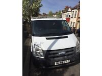 2009 Ford transit van swb with roof rack with ladder