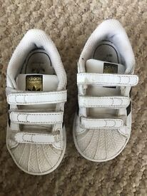 Good condition infant adidas trainers