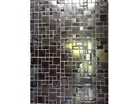 Metallic mosaic wall tiles