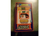 Pocketeers Fruit Machine 1975 Tomy Very Good Condition