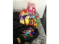 Lots of peppa pig toys