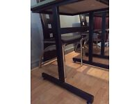 Black Set of sitting chairs and dining tables
