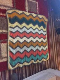 Handmade chevron Baby Blanket Or Knee Blanket